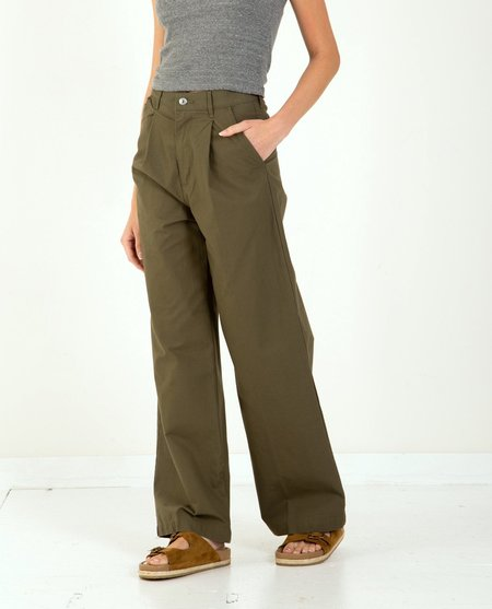 Levi's Pleated High Loose Pants - Olive