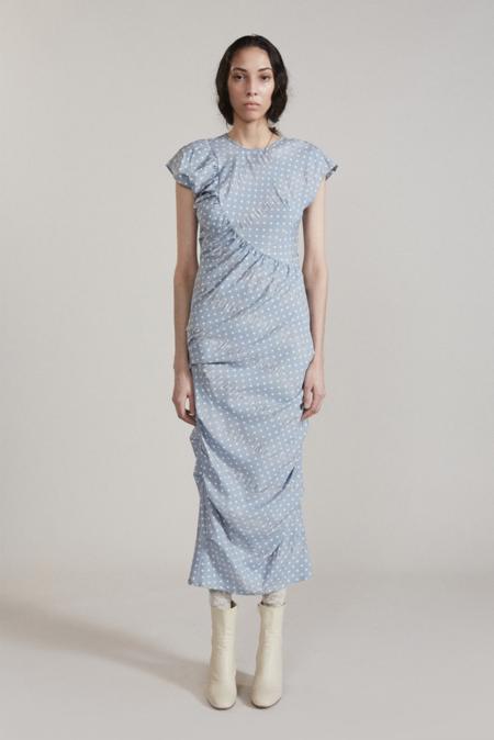 Rachel Comey New Delirium Dress - Light Blue Polka Dot Pucker