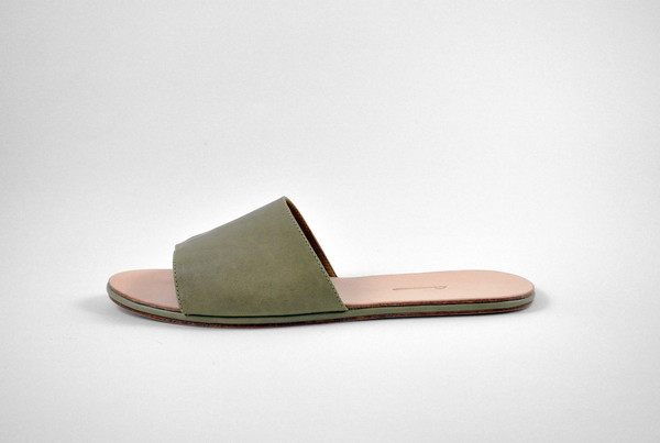 The Palatines Shoes caelum slide sandal - olive