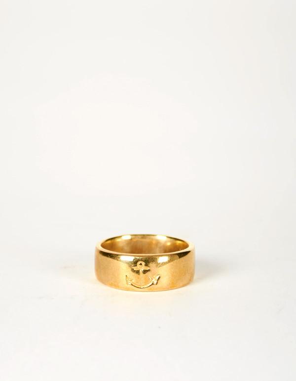 Jon Swinamer Anchor Band Ring Bronze