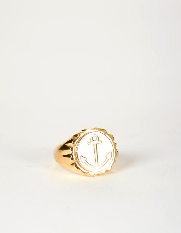 Jon Swinamer Anchor Cap Ring Bronze