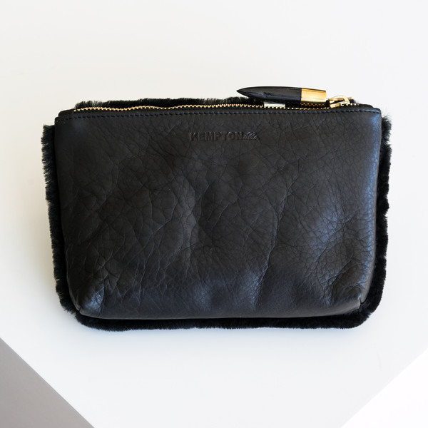 Kempton & Co Marlborough Cosmetic Pouch - Black