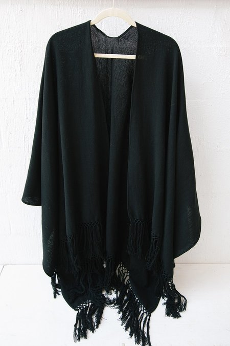 Pampa Cotton Poncho - Black