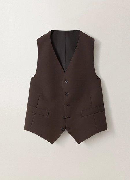 Unisex Lemaire Waistcoat - Dark Brown