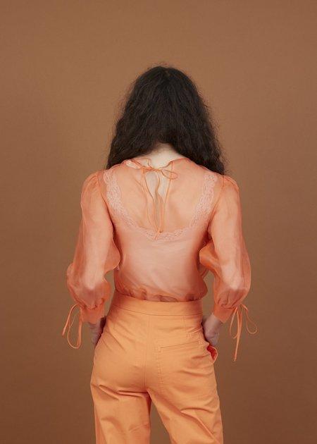 Tela Lucida Camicia Blouse - Arancia