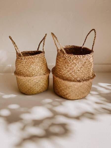 Village Thrive Tropika Seagrass Home Basket - Natural