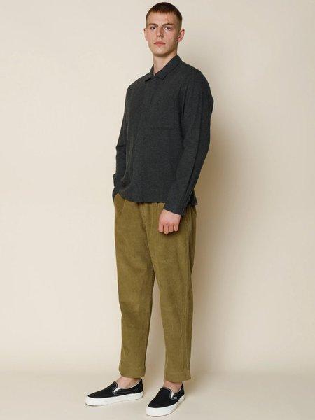 Folk Clothing Folk Patch Shirt - Stone Moss Flannel