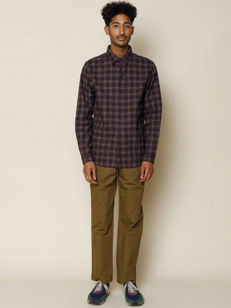 Folk Clothing Storm Shirt - Mid Brick Check