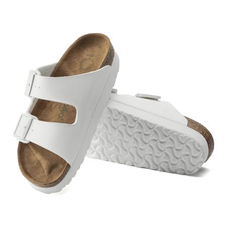 Birkenstock Arizona Narrow Vegan Platform - White