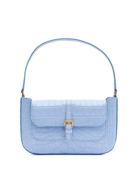 By FAR Cocco Print Shoulder Bag - Light Blue