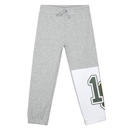 Kids Stella McCartney Sweatpants With Varsity Patch - Grey