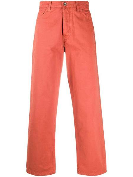 Henrik Vibskov Repeat Twill Pants - Orange