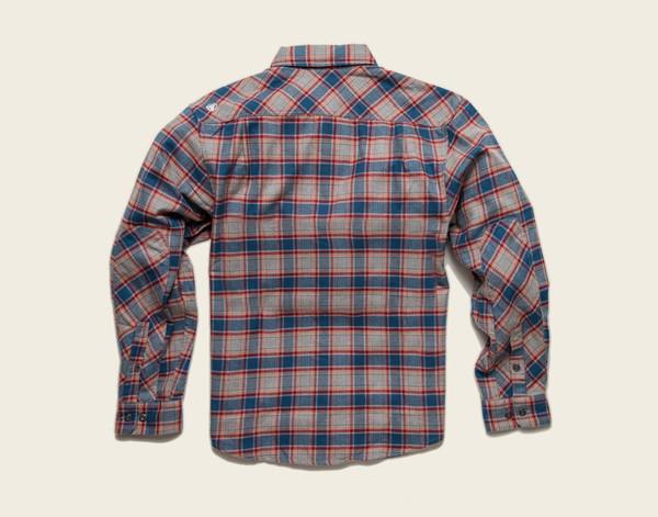 Men's Howler Brothers Harker's Flannel - Heather Grey