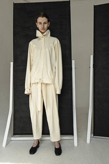 K M By L A N G E Deconstructed 80s Pants - Cream