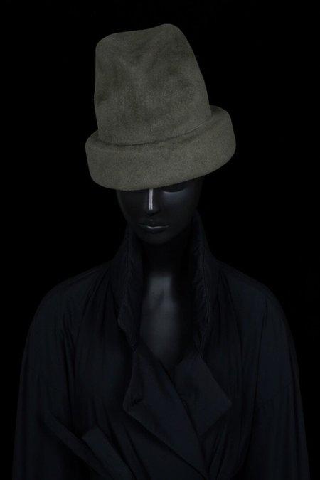 Esenshel SPLIT OVERSIZED CUFF HAT - OLIVE