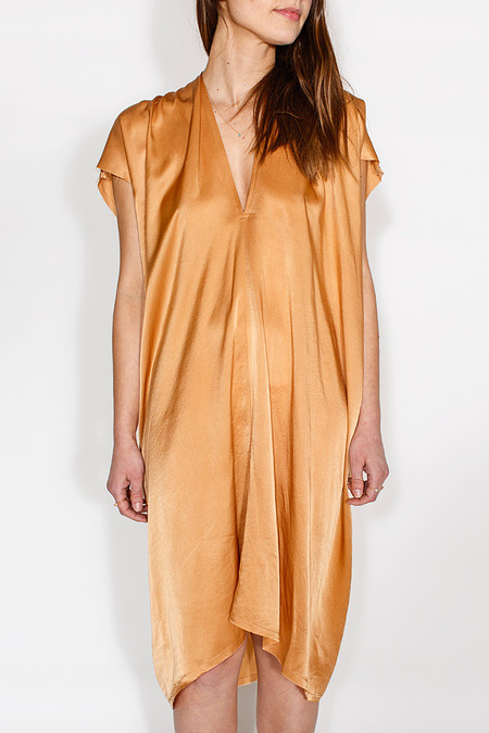 Miranda Bennett In-Stock: Everyday Dress, Silk Charmeuse in Sand