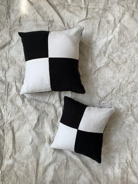 Cuttalossa & Co. Linen Pillows - Black/White