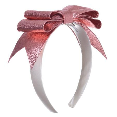 Kids Hucklebones Present Bow Hairband - Copper