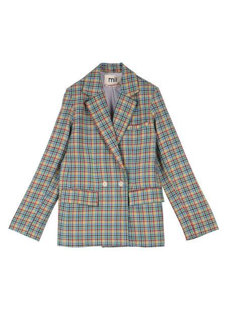 Mii Collection Plaid Blazer - Multicolor