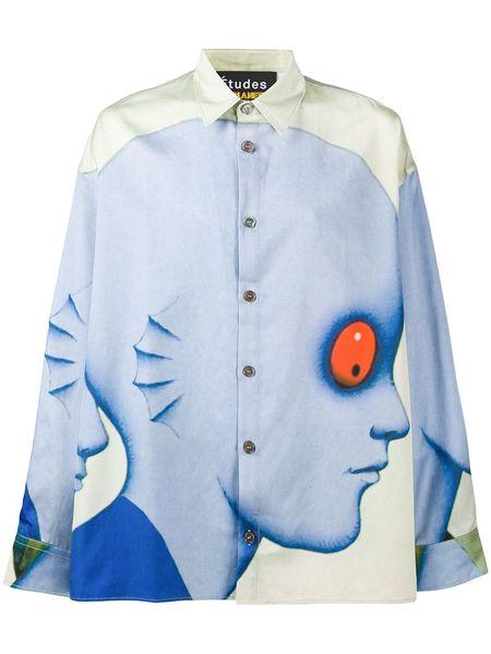 Études Studio Illusion Drag Print Shirt