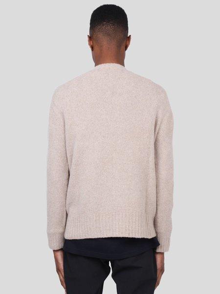 Schnayderman's Killer Whale Seamless Wool Cashmere Crewneck Sweater -  Beige Melange