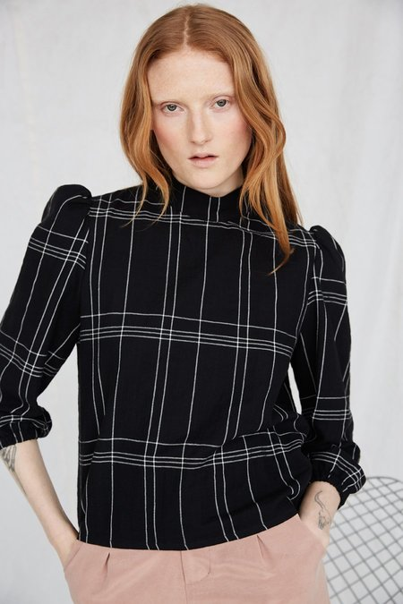 Eve Gravel Lost City Top - Black/White Plaid