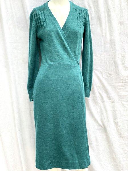 Vintage Wrap Wool Dress