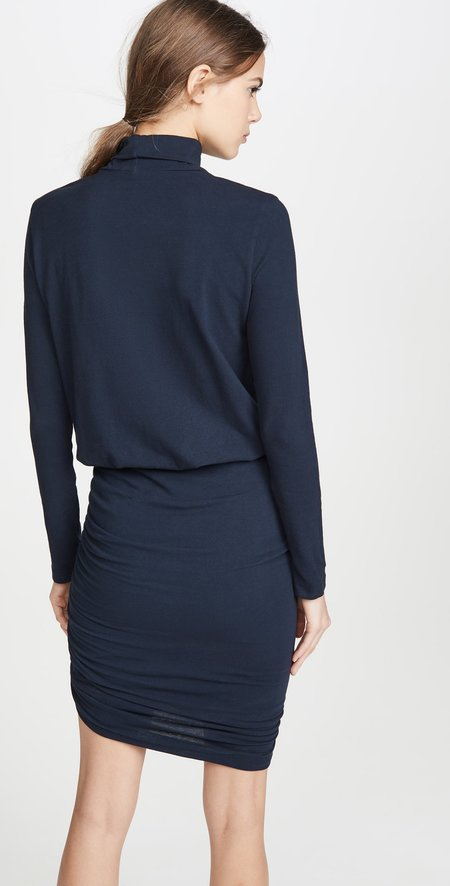 Sundry Turtleneck Dress - Navy
