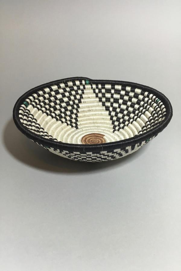 All Across Africa Medium Black/Green Hope Basket