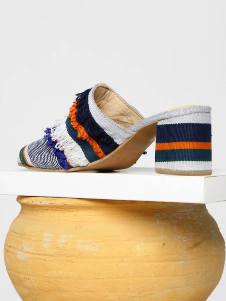 Shekudo Ilamoye Mule Weave - Blue