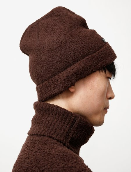 Our Legacy Knitted Hat - Teddy Brown Merino