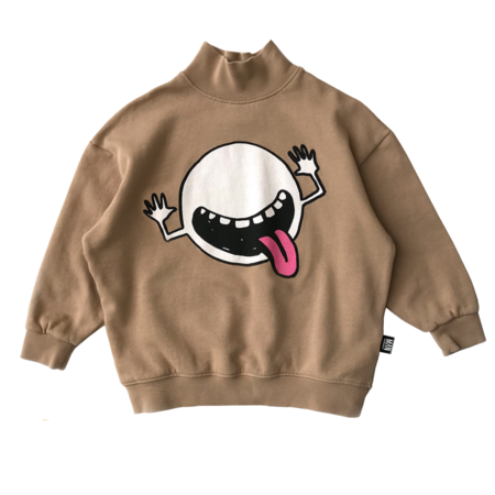 kids LITTLE MAN HAPPY Cosmic Cutie High Collar Sweater
