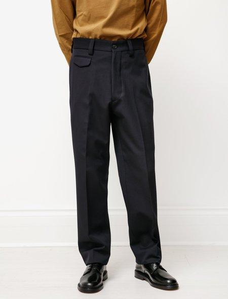Margaret Howell Ticket Pocket Trouser Wool Cotton - Midnight