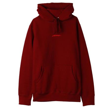 Livestock 400 GSM Embroidered Pullover Hoodie / Burgundy