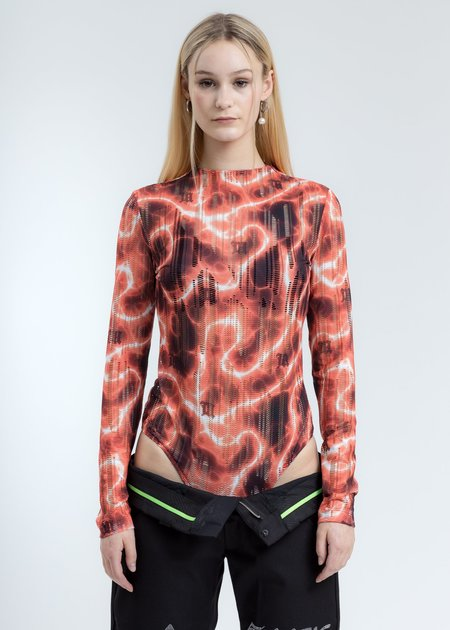 MISBHV Barb Wire Net Long Sleeve Bodysuit - Multicolor