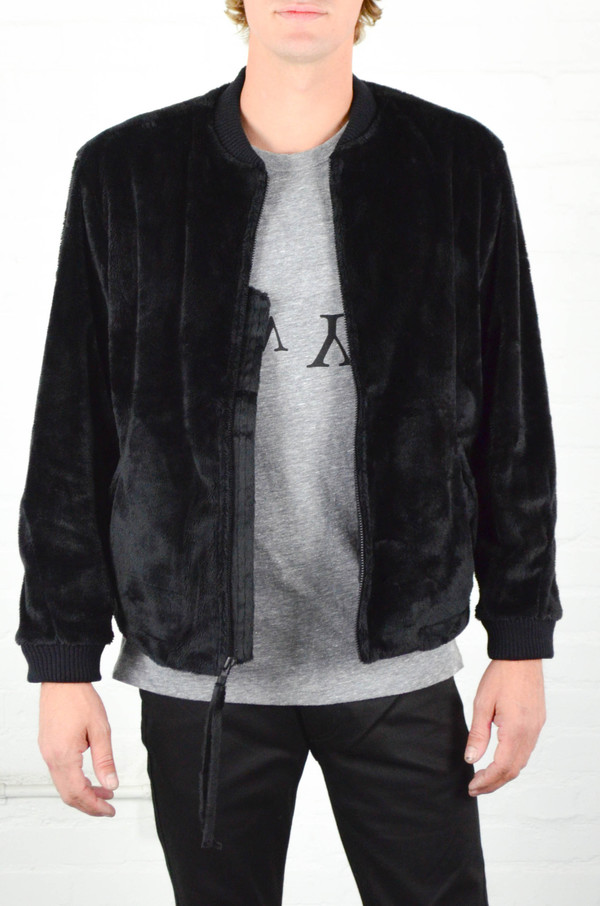 Men's Assembly New York Assembly Faux Fur Minimalist Bomber