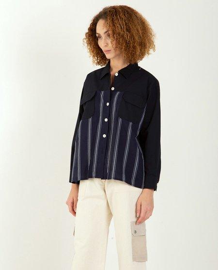W'Menswear Mosquito Shirt - NAVY