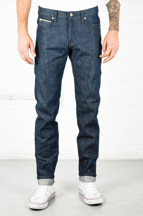 Men's Naked and Famous Rusted Blue Selvedge Super Skinny Guy