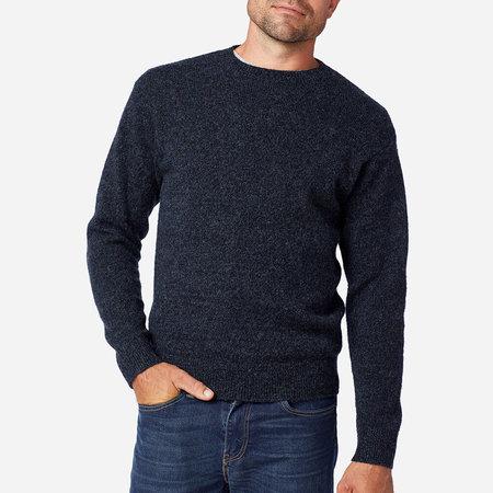Pendleton Shetland Washable Wool Crewneck Sweater - Indigo Heather