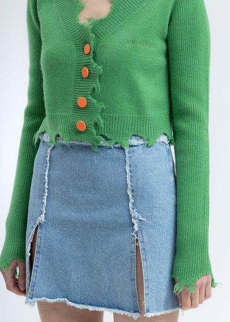 Ann Andelman Destroyed Cardigan - Green
