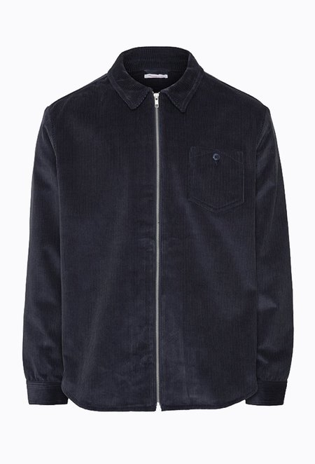 Knowledge Cotton WALES Corduroy Overshirt - Total Eclipse