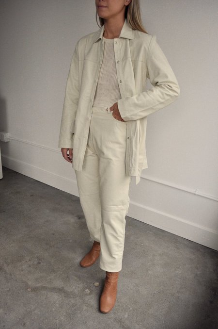 Tach Clothing Tach Dilma Leather Pant - Cream