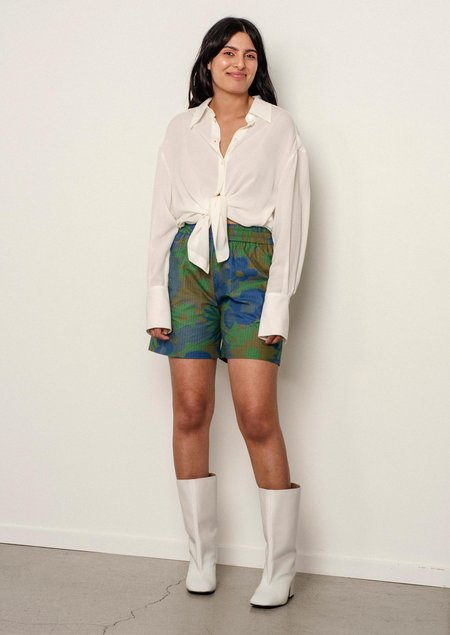 Penny Sage Frank Shorts - Dusk Flower