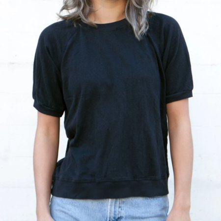 Jungmaven Short Sleeve Raglan - Washed Black