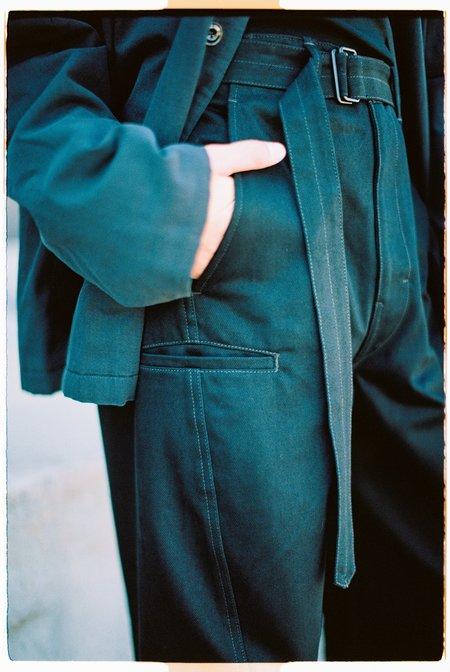 Lemaire Heavy Denim Twisted Pants - Black
