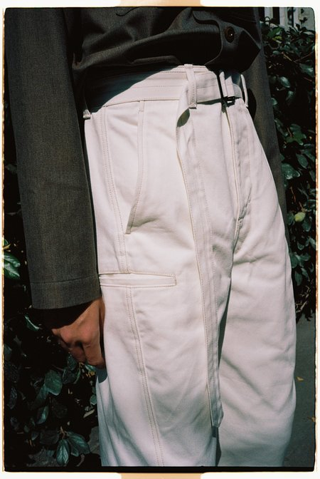 Lemaire Heavy Denim Twisted Pants - White