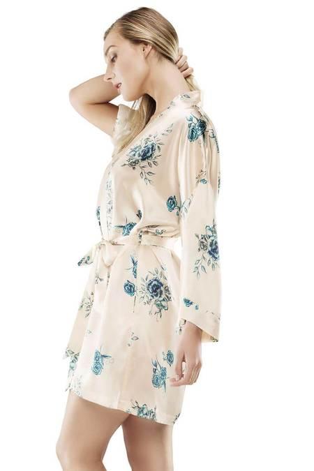 NK iMODE Enchanting Short Kimono - Wild Rose