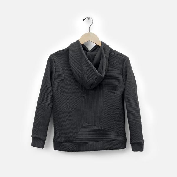 Andorine Black Hooded Sweatshirt