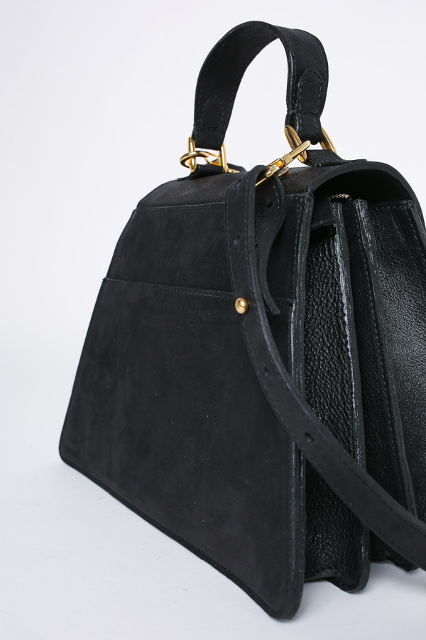 Ceri Hoover Kyle black handbag in black