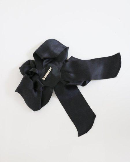 [pre-loved] Chanel Satin Brooch - Black
